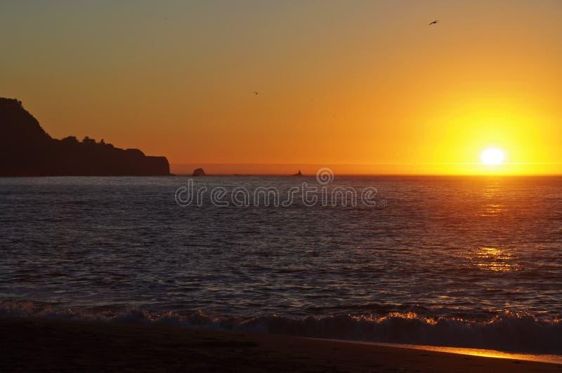 piekarza plażowy Francisco San zmierzchu czas fotografia stock