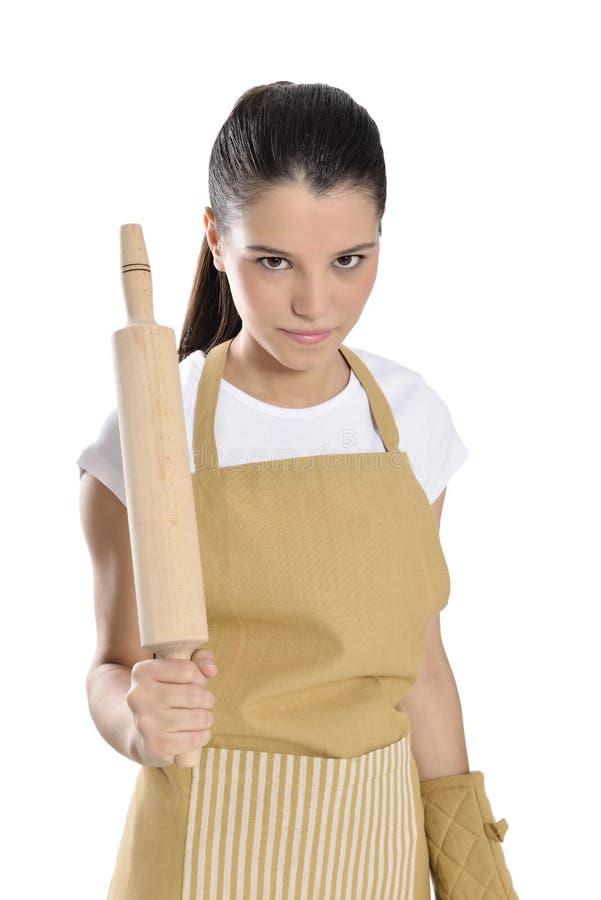 Piekarza, szefa kuchni kobieta/ obraz stock
