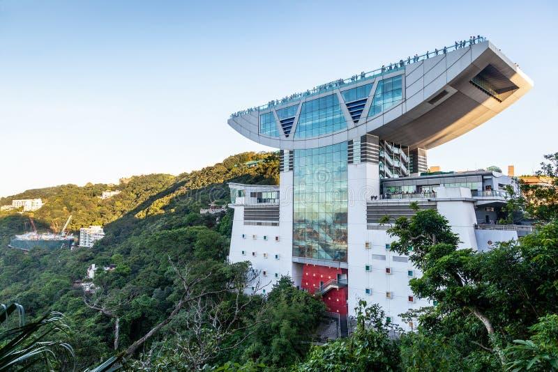 Piektoren boven op Victoria Peak in Hong Kong royalty-vrije stock foto