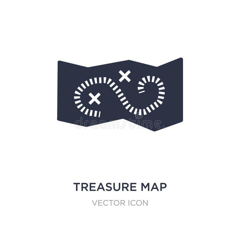 pielęgnuje mapę z ikoną na białym tle x Prosta element ilustracja od map i flag pojęcia ilustracja wektor