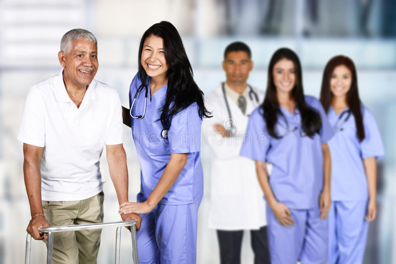 Pielęgniarka i pacjent obrazy royalty free