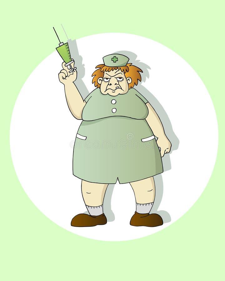 pielęgniarka straszna ilustracji
