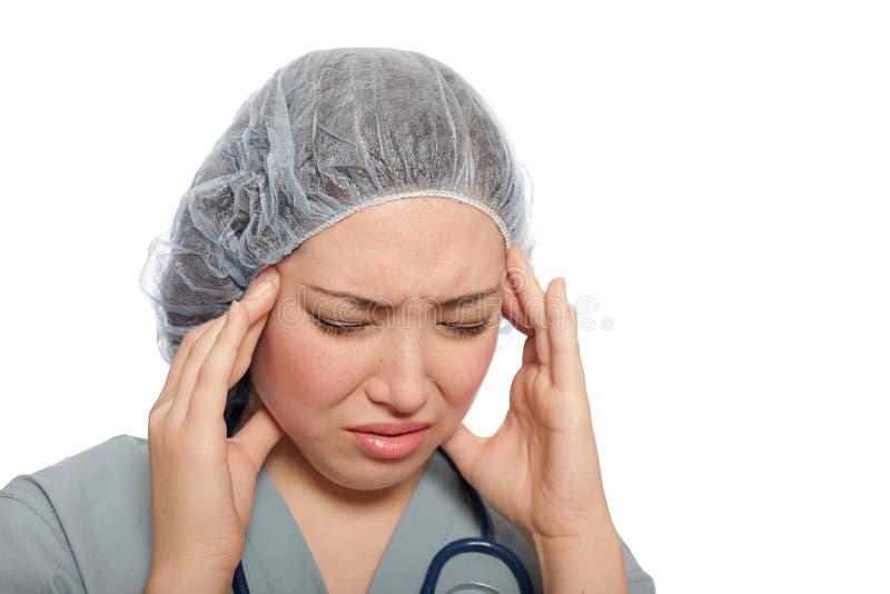pielęgniarka stresować się stresująca się obraz royalty free