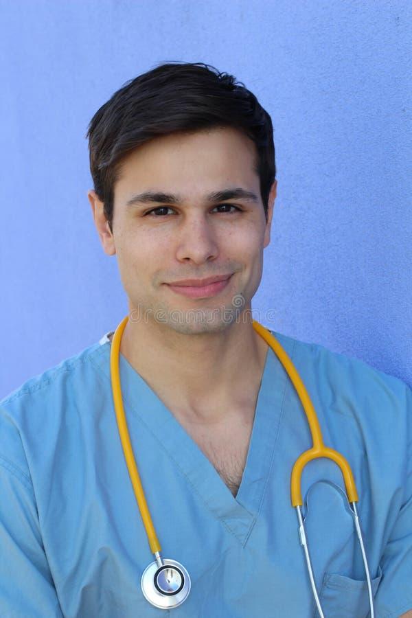 Pielęgniarka, uczeń, edukacja przystojny Zdrowy zdjęcia stock