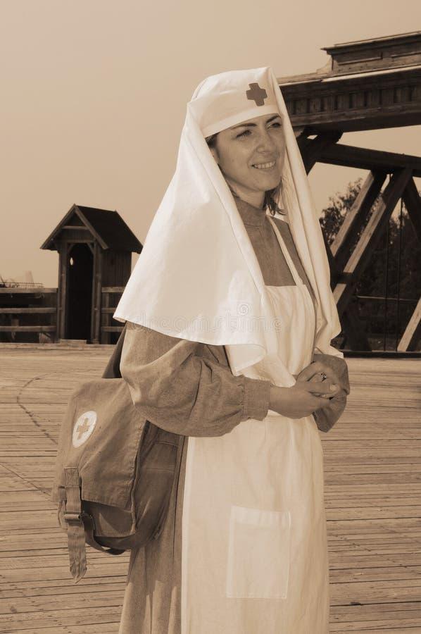 pielęgniarki obrazka retro projektujący fotografia royalty free