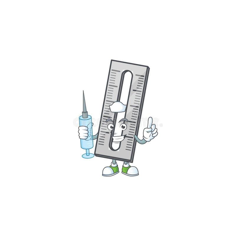 Pielęgniarki szare miarki w postaci kreskówki ilustracja wektor