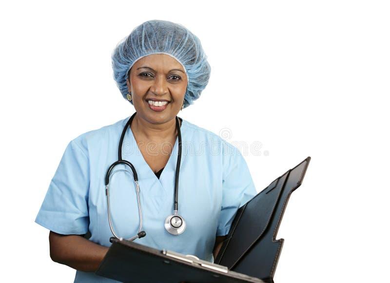 pielęgniarki uśmiecha chirurgicznej obraz stock