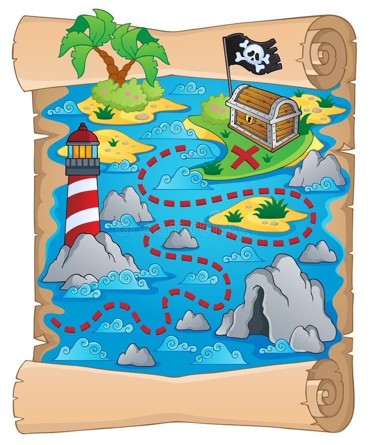 Skarb mapy tematu wizerunek 5 ilustracji