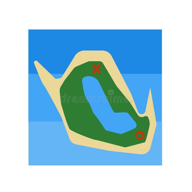 Pielęgnuje mapy ikony wektor odizolowywającego na białym tle, skarb mapy znak, dziejowi era kamienia łupanego symbole royalty ilustracja