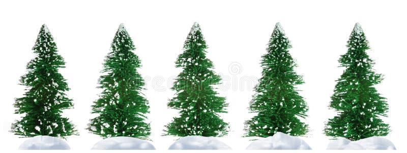 Piel-árbol y nieve stock de ilustración
