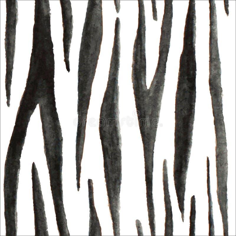 Piel animal de la acuarela del vector para el diseño stock de ilustración