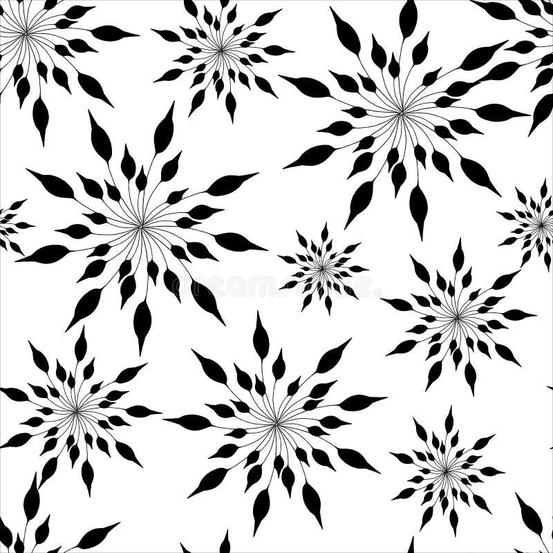 Piel d?lmata Elementos negros abstractos en el fondo blanco Textura inconsútil para el tkinini y las tejas Ilustraci?n del vector ilustración del vector
