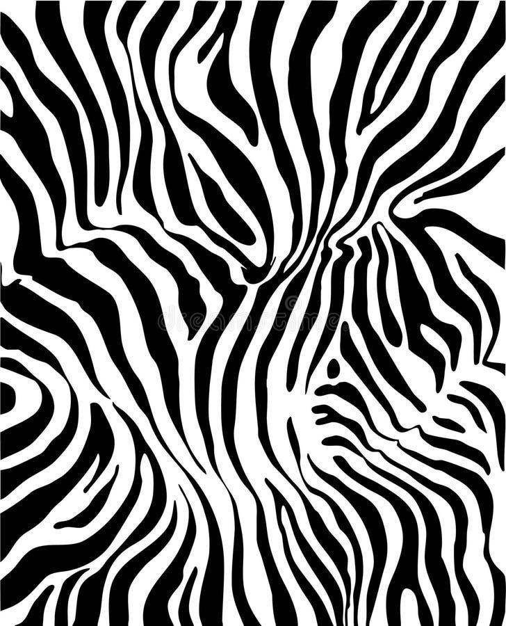 Piel de la cebra stock de ilustración