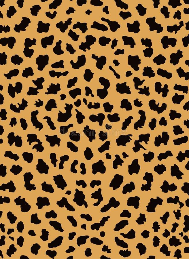 Piel del leopardo stock de ilustración