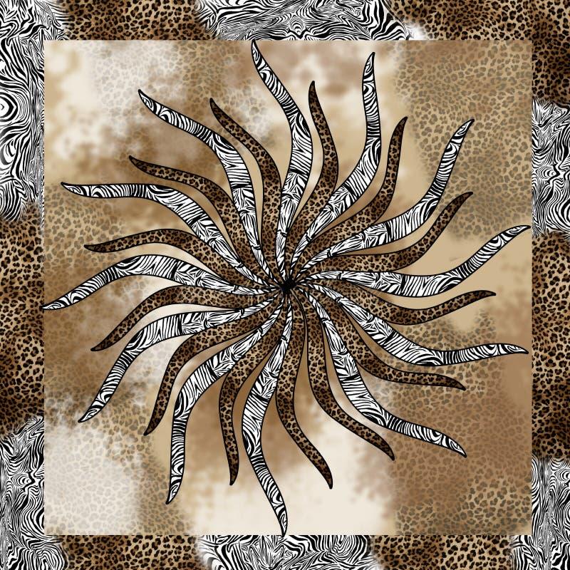 Piel del leopardo de la cebra fotografía de archivo