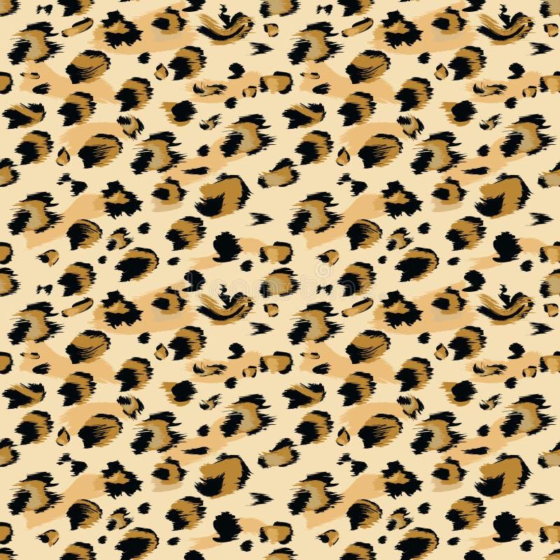 Piel del leopardo inconsútil El estilo del color plano y sólido estilizó el fondo manchado para la moda, impresión, tela de la pi stock de ilustración
