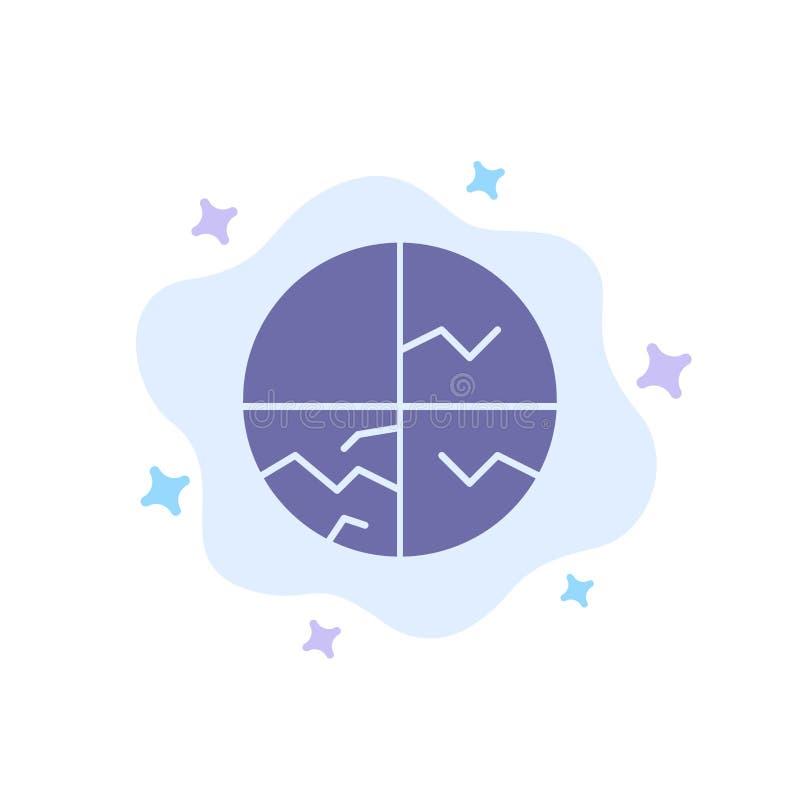 Piel seca, piel, cuidado de piel, piel, icono azul de la protección de piel en fondo abstracto de la nube libre illustration
