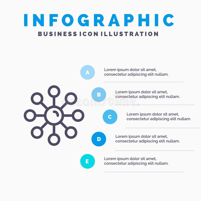 Piel seca, piel, cuidado de piel, piel, línea icono de la protección de piel con el fondo del infographics de la presentación de  stock de ilustración