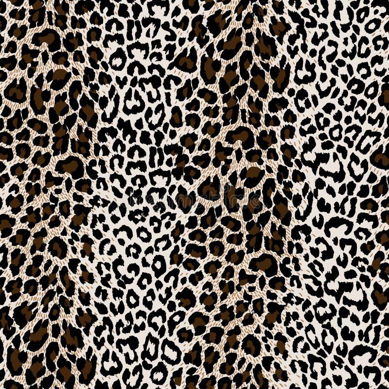 Piel textured natural del leopardo ilustración del vector