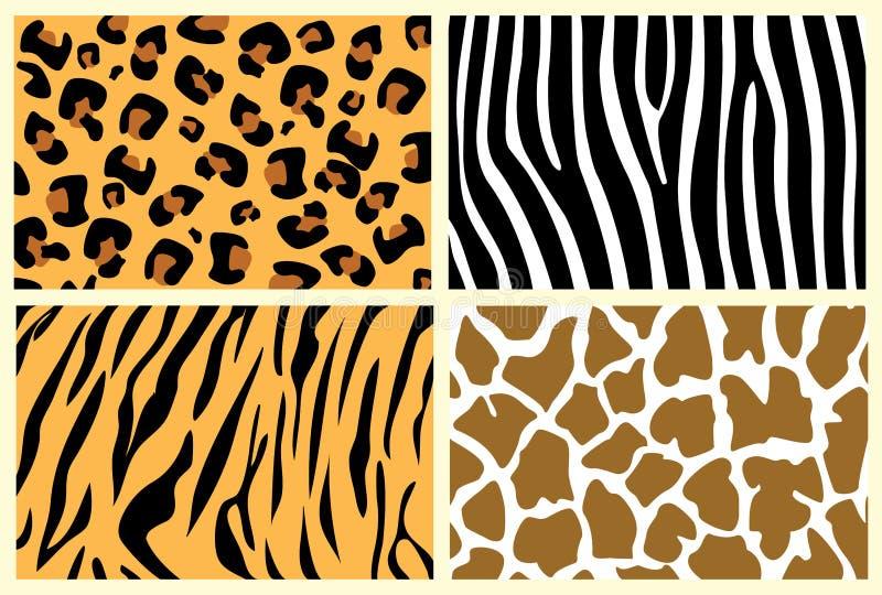 Pieles animales ilustración del vector