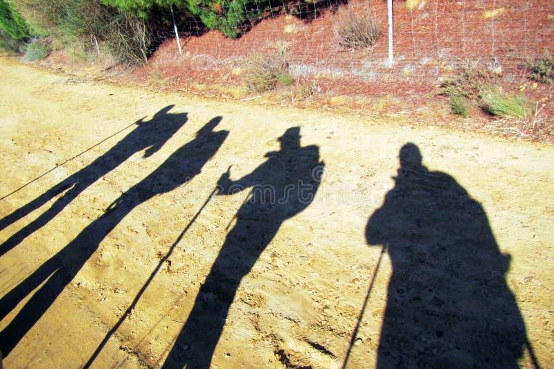 Pielgrzymów cienie zdjęcie stock