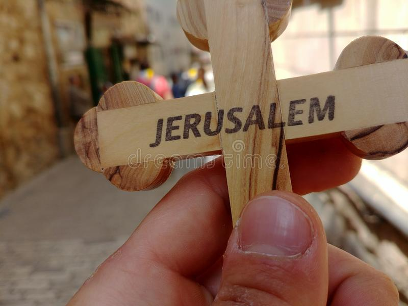 Pielgrzym z krzyżem zdjęcie royalty free