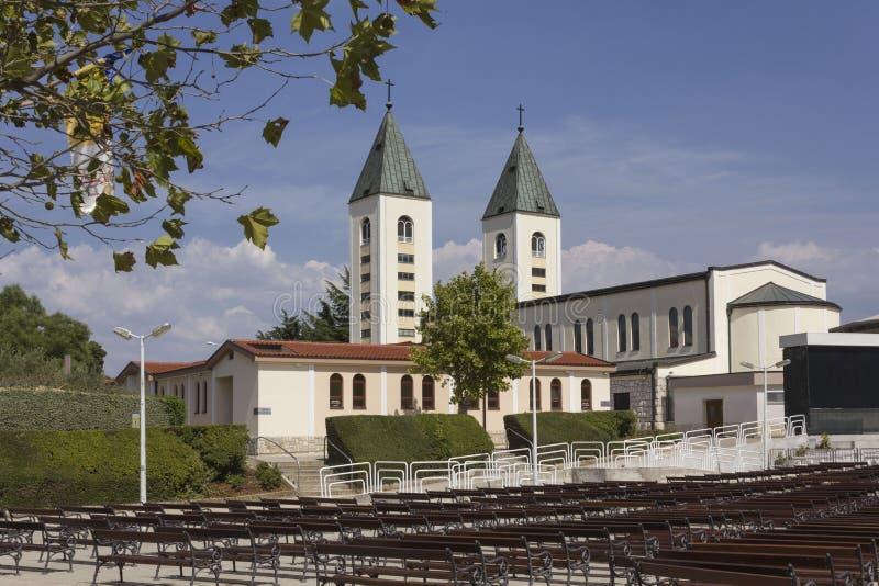 Pielgrzymki miejsce świętego James kościół w Medjogorje obrazy royalty free