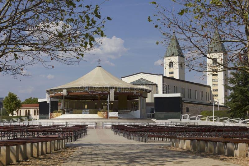 Pielgrzymki miejsce Medjugorje w Bośnia, Herzegovina - zdjęcie royalty free