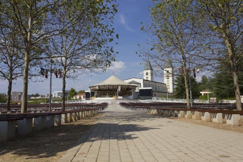 Pielgrzymki miejsce Medjugorje w Bośnia, Herzegovina -, zdjęcia royalty free