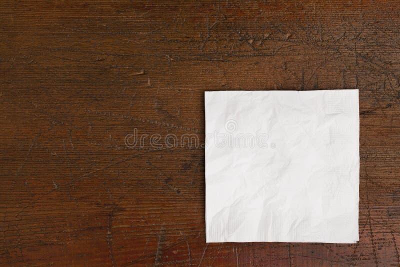 pielucha biel stary stołowy fotografia royalty free