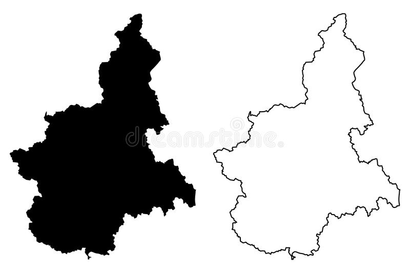 Piemont-Kartenvektor vektor abbildung
