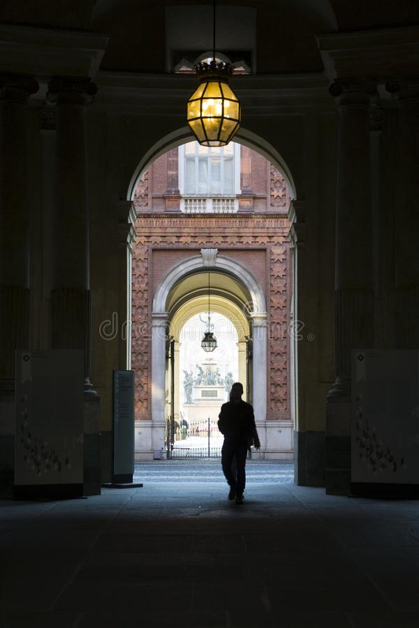Piemont - Turin - Italien - Palazzo Carignano lizenzfreie stockfotos