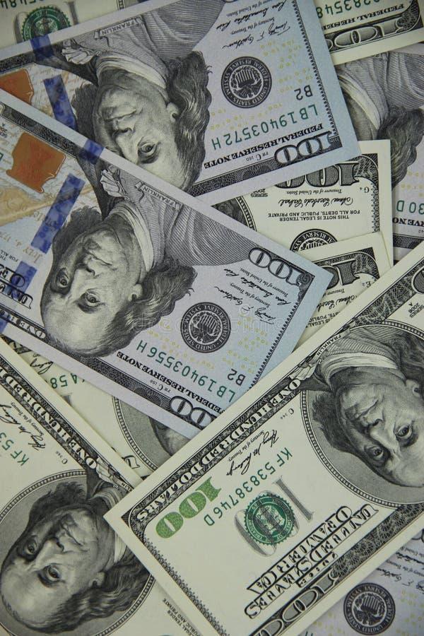 Pieniądze dolara sto rachunki zdjęcia royalty free