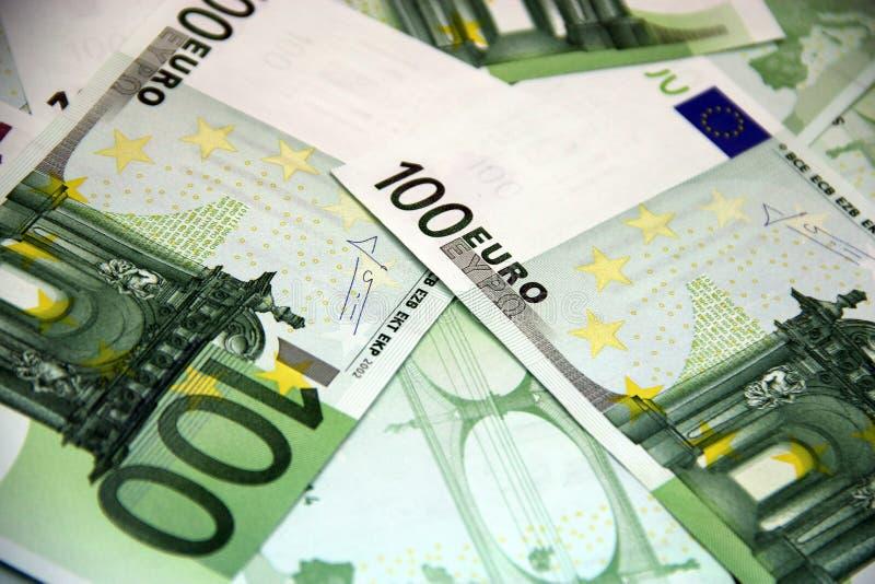 Pieniądze euro sto rachunków zdjęcie royalty free