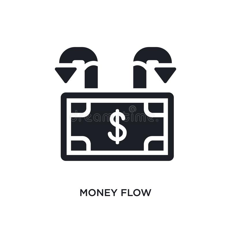 pieniądze przepływu odosobniona ikona prosta element ilustracja od gospodarki i finanse pojęcia ikon pieniądze przepływu logo zna ilustracji