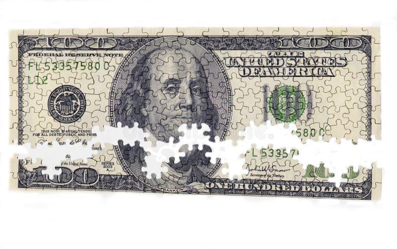 pieniądze łamigłówka royalty ilustracja