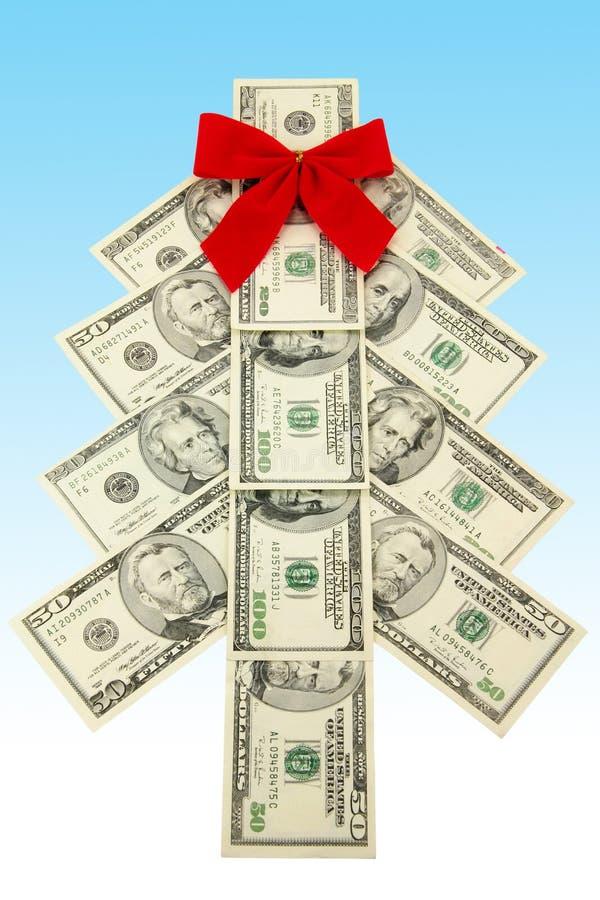 pieniądze świąteczne drzewko obrazy royalty free