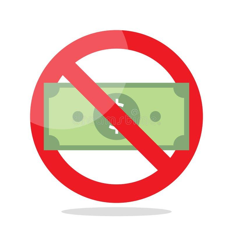 pieniądze żadny znak royalty ilustracja