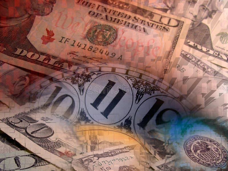 pieniądze abstrakcjonistyczny czas ilustracja wektor