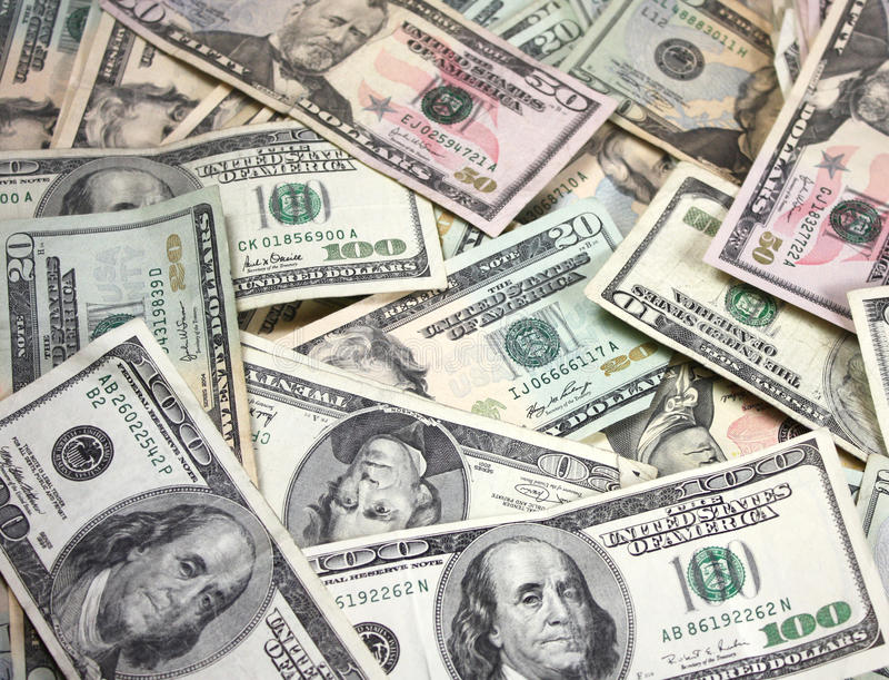 pieniądze amerykański stos zdjęcie royalty free