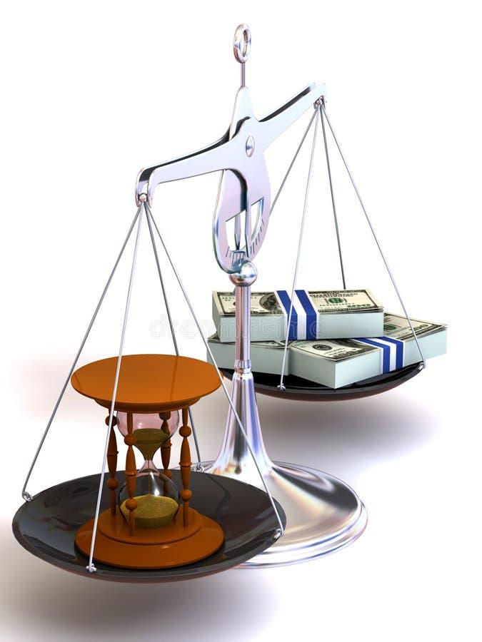 pieniądze balansowy czas ilustracji