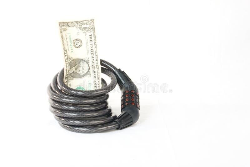 pieniądze bezpieczny zabezpieczać twój obrazy stock