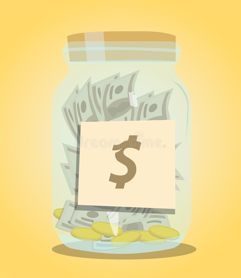 Download Pieniądze butelki tło ilustracja wektor. Ilustracja złożonej z gospodarka - 53775659