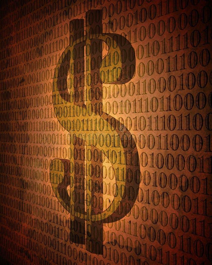 pieniądze cyfrowy rocznik royalty ilustracja