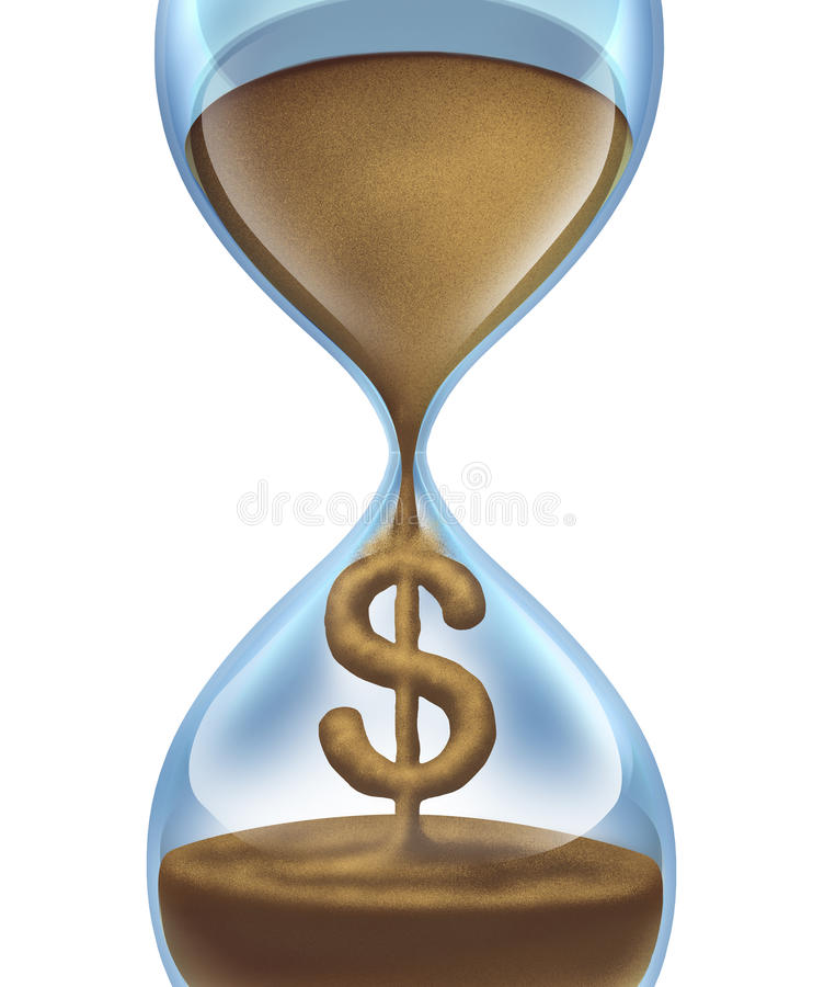 pieniądze czas ilustracji