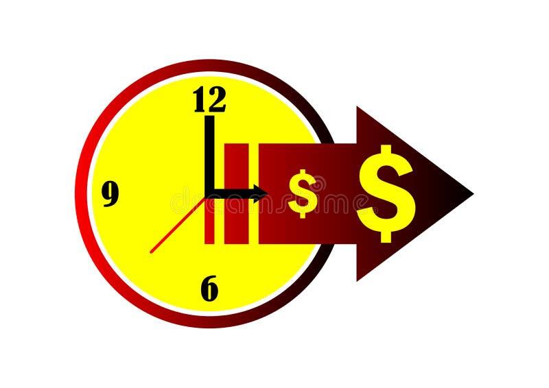 pieniądze czas royalty ilustracja
