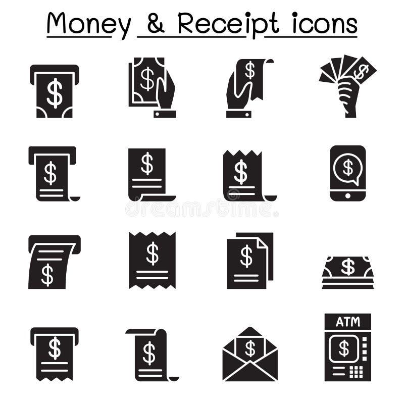 Pieniądze, Deponuje pieniądze ikonę ilustracja wektor