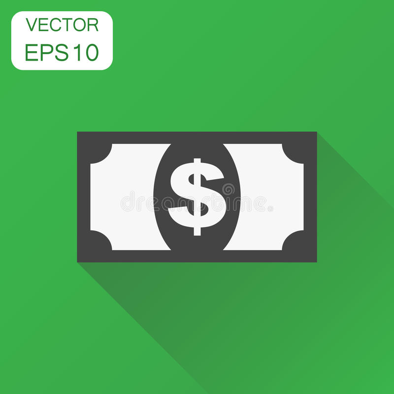 Pieniądze dolara ikona Biznesowy pojęcie pieniądze piktogram Wektorowy illu ilustracji
