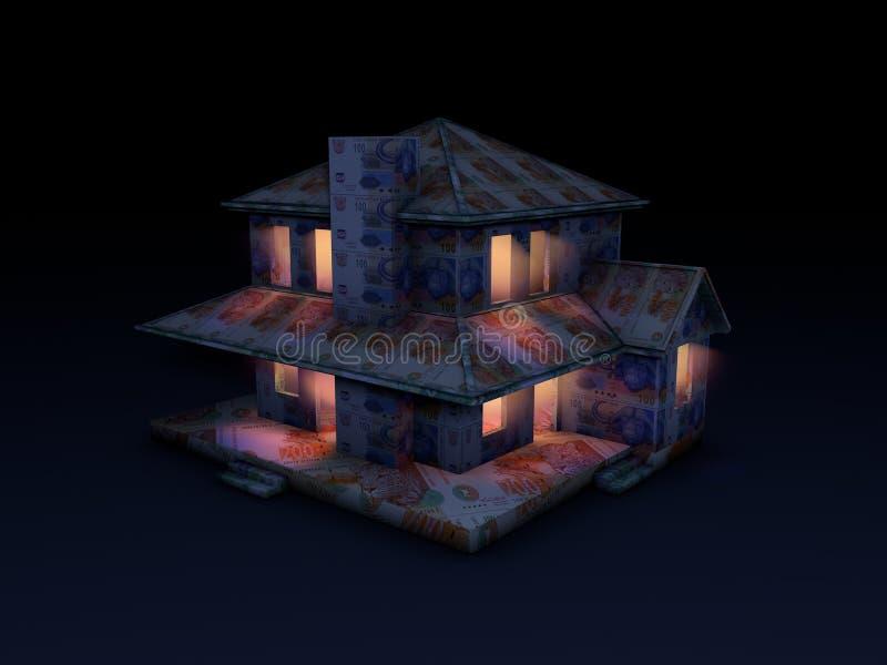 Pieniądze dom budujący skraje royalty ilustracja