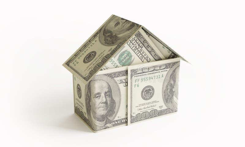 Pieniądze dom royalty ilustracja